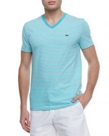 Striped Jersey V-Neck Tee - Clothes make the man