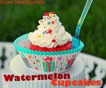 Sugar Free Watermelon Cupcakes - Watermelon Birthday