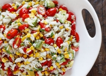 Summer Tomatoes, Corn, Crab and Avocado Salad - Food & Drink