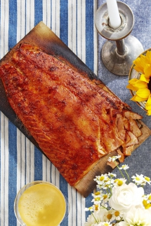Sweet-and-Smoky Cedar-Planked Salmon - Salmon Recipes