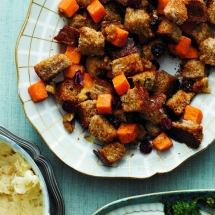 Sweet Potato Stuffing - Cooking