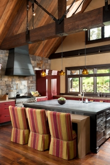 Table Seating at Kitchen Island - Dream Kitchens
