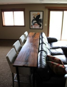 Table seating behind rec room couch - For the home
