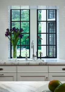 Tall kitchen windows - Dream Kitchens