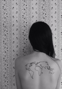 Tattoo of world map - Tattoo ideas