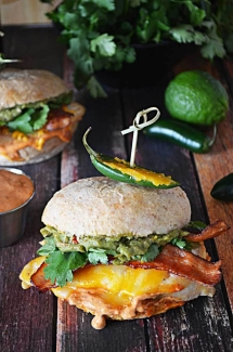 Tequila Lime Chicken Sandwiches with Guacamole and Chipotle Mayo Recipe - Sandwiches