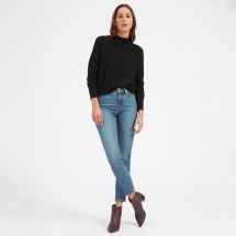 The Cashmere Crop Mockneck - Fave Clothing, Shoes & Accessories