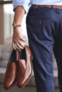 The Classic Brown and Navy  - Men's clothing
