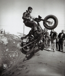 The dirt jump [B&W Photo] - Cars & Motorcyles