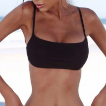 Thin Strap Bandage Bikini Top - Intimate Apparel
