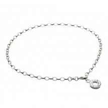 Thomas Sabo Silver Ankle Chain Charm Carrier Anklet  - Jewelry