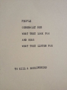 To Kill a Mockingbird quote - Quotes
