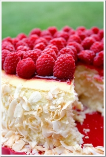 Toasted coconut & raspberry cheesecake - Dessert Recipes