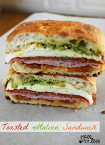 Toasted Italian Sandwich Recipe - Sandwiches