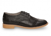 Toms Black Crackled Leather Women's Brogues - Clothing, Shoes & Accessories