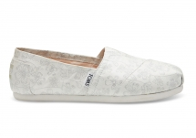 Toms Ivory Silver Floral Jacquard Women's Classics - Clothing, Shoes & Accessories