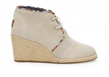 Toms Whisper Burlap Suede Women's Desert Wedges - Clothing, Shoes & Accessories