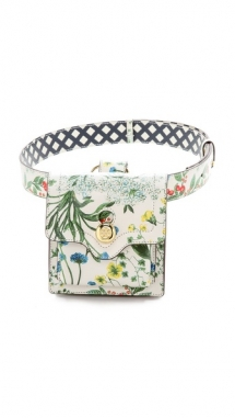 Tory Burch Printed Leather Belt Bag  - Accessories