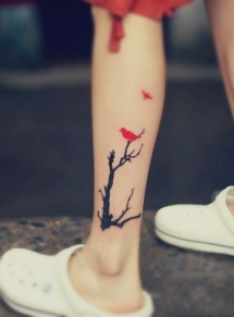 Tree & bird tattoo - Tattoo ideas