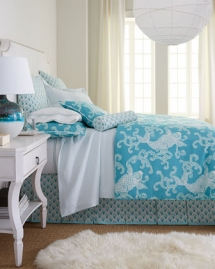 turquoise & white bedding set - Bedding