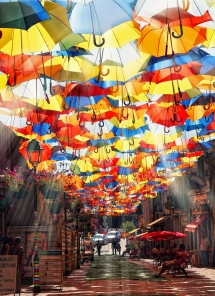 Umbrella Sky Project in Agueda, Portugal  - Amazing Places