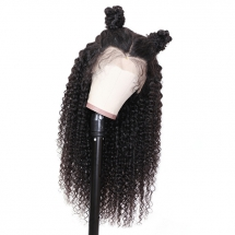 UNice Hair Brazilian Natural Pre-plucked Long Curly Lace Front Wig 100% Human Hair  - Fave hairstyles