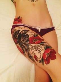 Upper leg tattoo - Tattoo ideas