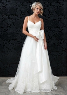 Wedding dress with spaghetti straps - Everything Weddings