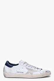 White Blue Super Star Sneakers - Clothes make the man