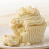 White Chocolate Cupcakes with Truffle Filling - Dessert Recipes