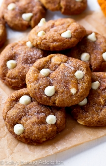 White Chocolate Pumpkin Snickerdoodles - Crazy for Pumpkin