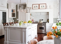 White Marble Kitchen - Kitchen ideas