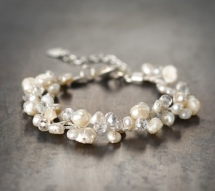 White & Pearl Shimmer Bracelet by John Greed - Christmas gift ideas for the Wife