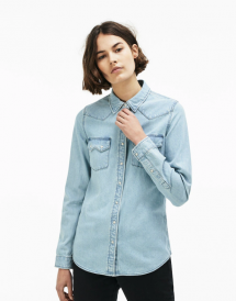 Women's LIVE Slim Fit Western Pockets Denim Shirt - Spring Wardrobe