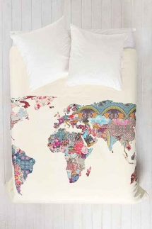 World Map Duvet Cover from Urban Outfitters - Bedding