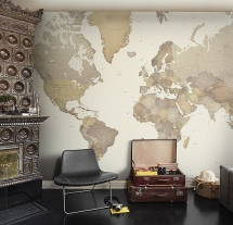 World Map Wall Panel - Home Office