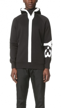 Y-3 Logo Hooded Sweatshirt - Hoodies