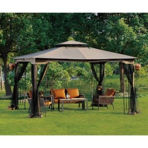 10 x 12 Patio Gazebo with Mosquito Netting