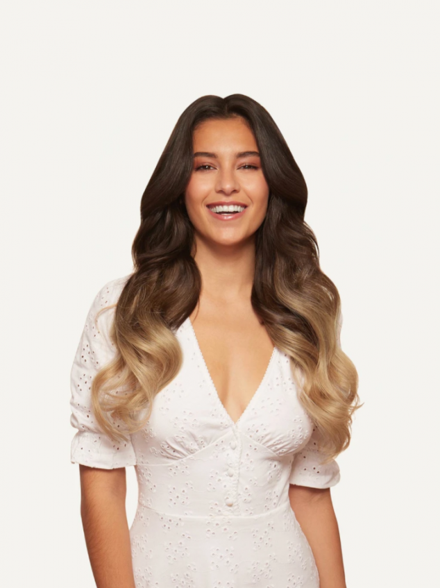 "20"" Seamless Ombre Blonde Clip-Ins"