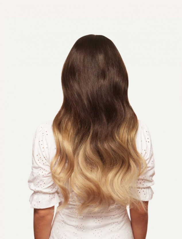 "20"" Seamless Ombre Blonde Clip-Ins - Image 3"