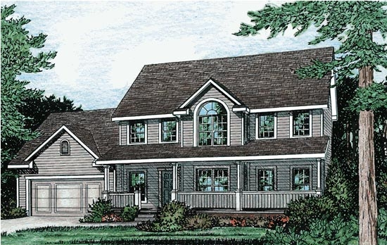 3 Bedroom Colonial Country House Plan