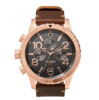 48-20 Chrono Leather in Rose Gold - Nixon
