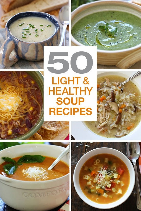 50 Light and Healthy Soup Recipes
