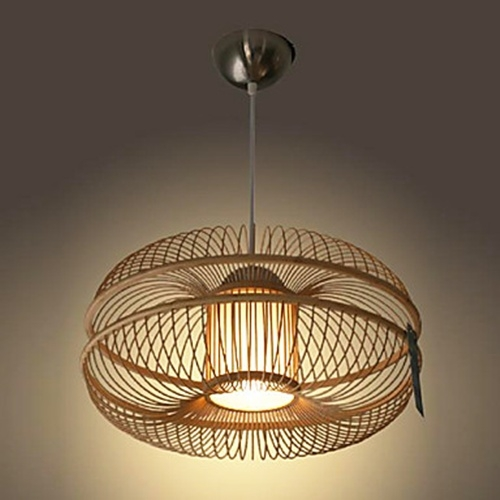 60w modern pendant light in bamboo shade 1 light favething 60w modern pendant light in bamboo shade 1 light aloadofball Image collections