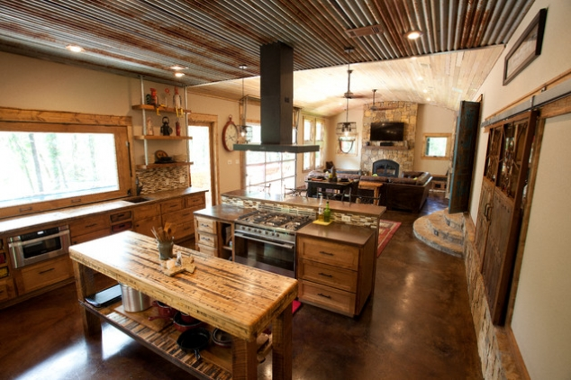 A Well Thought Out Kitchen With Smart But Rustic Ideas