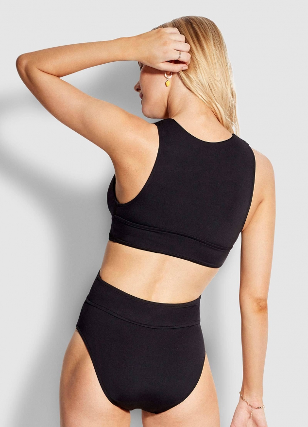 Active Wrap Front Plunge One Piece - Image 3