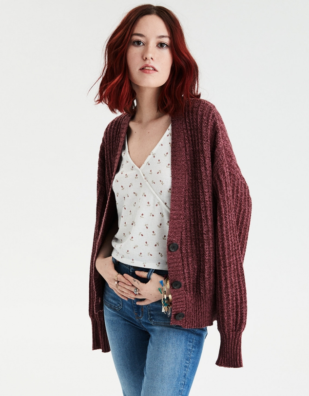 AE Boyfriend Button Up Cardigan