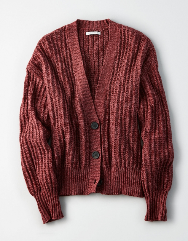 AE Boyfriend Button Up Cardigan - Image 3