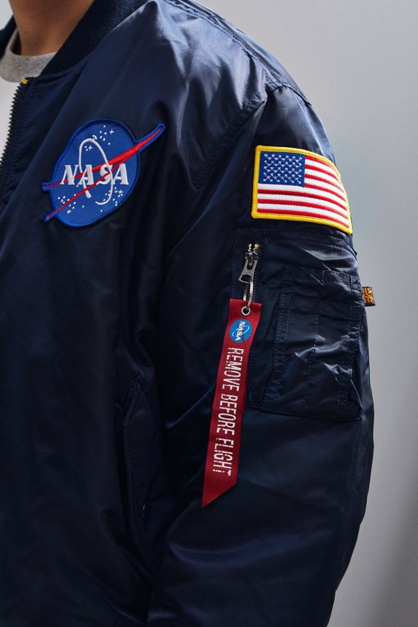 Alpha Industries MA-1 Nasa Slim Fit Bomber Jacket - Image 3