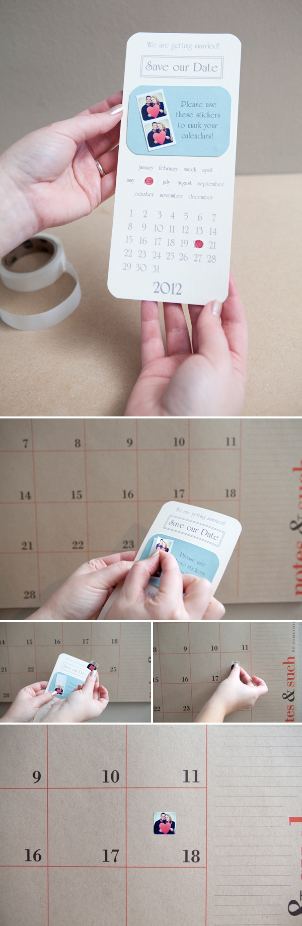 Amazing save the date idea